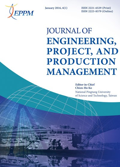 Journal of Engineering, Project, and Production Management [January 2016, 6(1)]