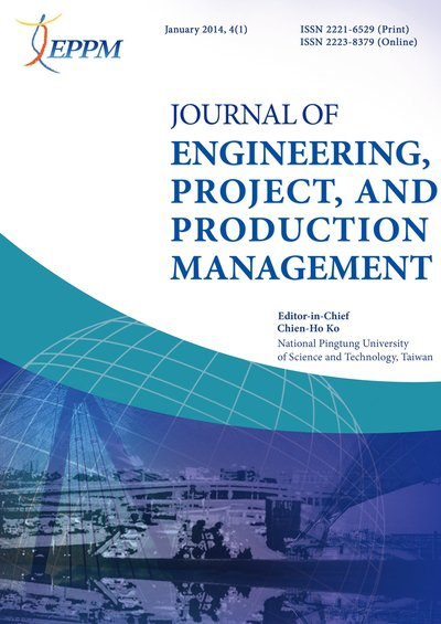 Journal of Engineering, Project, and Production Management [January 2014, 4(1)]