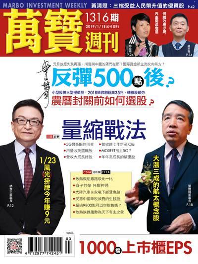 萬寶週刊 2019/01/18 [第1316期]:量縮戰法