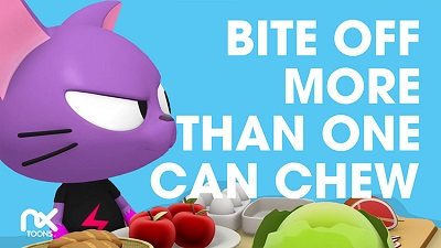 Bite off more than one can chew
