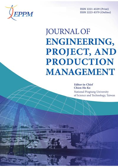 Journal of Engineering, Project, and Production Management [January 2020, 10(1)]